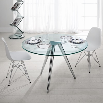 Unity 120cm round glass dining table robson furniture for 110cm round glass dining table