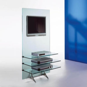 Curtain Wall Glass Tall TV Stand-21909
