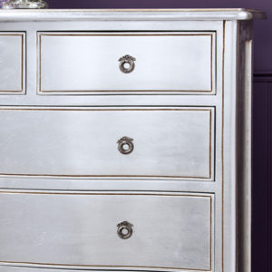 Alexandria Silver French 5 Drawer Chest-17477