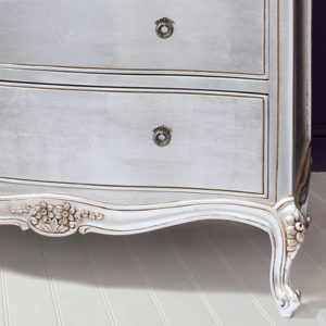 Alexandria Silver French 5 Drawer Chest-17476
