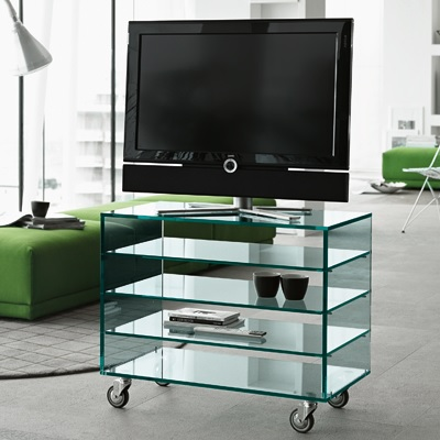 Grattacielo Glass Shelving Unit Combination 4-22235