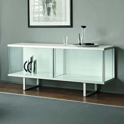 sports shoes 1912c c6e05 Broadway Glass White Low Sideboard