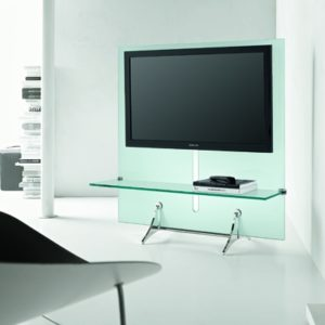 Curtain Wall Glass TV Stand-21913