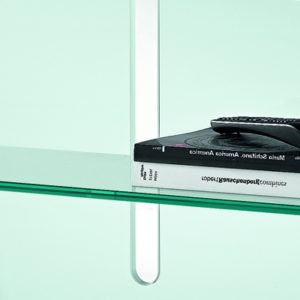 Curtain Wall Glass TV Stand-21912