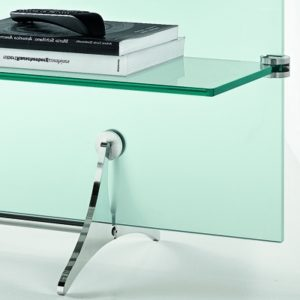 Curtain Wall Glass TV Stand-21914