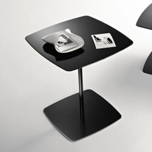 Black Glass Lamp Tables: Anemone Black Glass Tall Lamp Table-16744,Lighting