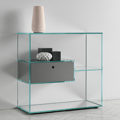 Glass Hall Table glass console tables - robson furniture