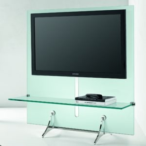 Curtain Wall Glass TV Stand-21910