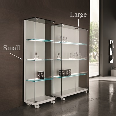 Medora Glass White Small Display Unit 23099