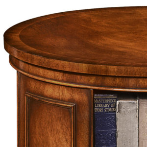 Revolving End Table Bookcase Mahogany AMC235-19099