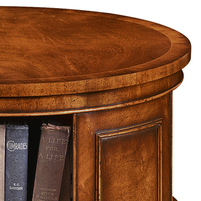 Revolving end table bookcase mahogany amc235 robson for Revolving end table