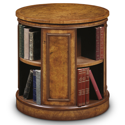 Revolving End Table Bookcase Burr Walnut Amc235 Robson