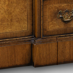 Breakfront TV Cabinet with Shallow Front Storage Burr Walnut AMC274-18802