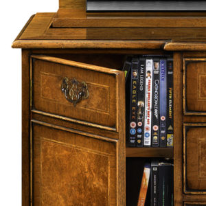 Breakfront TV Cabinet with Shallow Front Storage Burr Walnut AMC274-18795