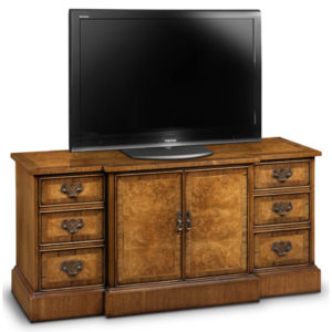Breakfront TV Cabinet Burr Walnut AMC284-18835