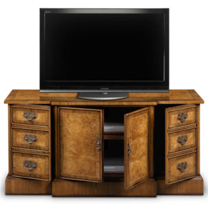 Breakfront TV Cabinet Burr Walnut AMC284-18832