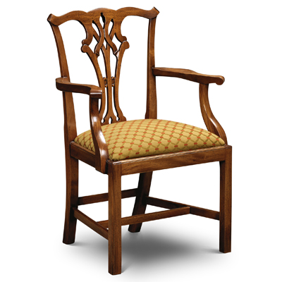 Country Chippendale Armchair Mahogany CC02-19164