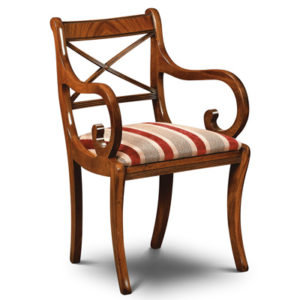 Cross Stick Armchair Mahogany CS02-19205