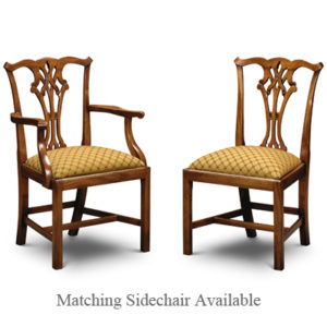Country Chippendale Armchair Mahogany CC02-19160