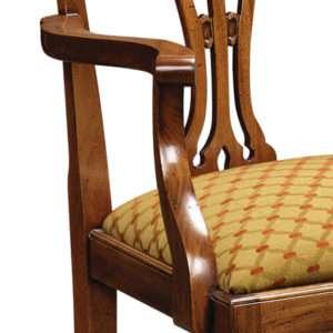 Country Chippendale Armchair Mahogany CC02-19161