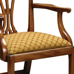Country Chippendale Armchair Mahogany CC02-19163
