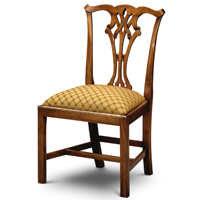 Country Chippendale Side Chair Mahogany Cc01