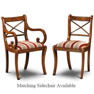Cross Stick Armchair Mahogany CS02-19202