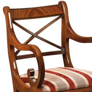 Cross Stick Armchair Mahogany CS02-19204