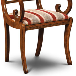 Cross Stick Armchair Mahogany CS02-19203