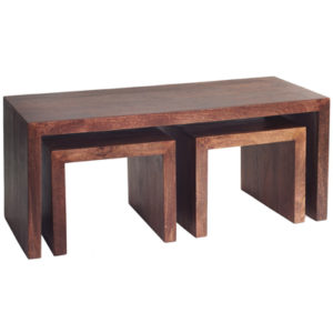 Toker Indian Mango Nest of Coffee Tables-19748