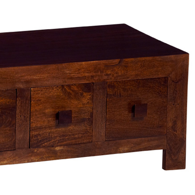 Toker Indian Mango 8 Drawer Coffee Table