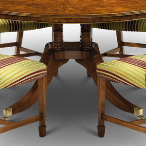 Cluster Base Round Dining Table Burr Walnut W141-18517