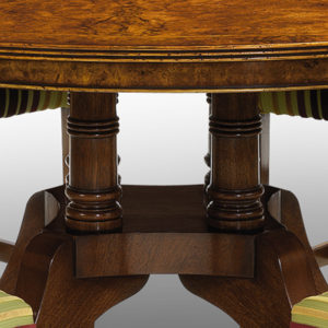 Cluster Base Round Dining Table Burr Walnut W141-18515