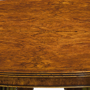 Cluster Base Round Dining Table Burr Walnut W141-18519