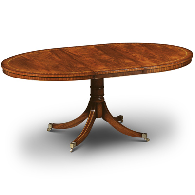 small oval extending dining table mahogany w161 robson furniture. Black Bedroom Furniture Sets. Home Design Ideas