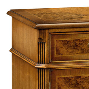Breakfront Credenza Sideboard with Canted Sides Walnut W195-18277
