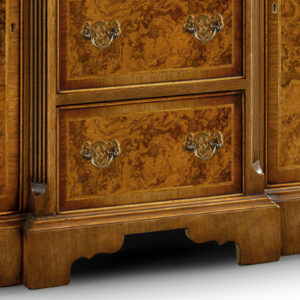 Breakfront Credenza Sideboard with Canted Sides Walnut W195-18276