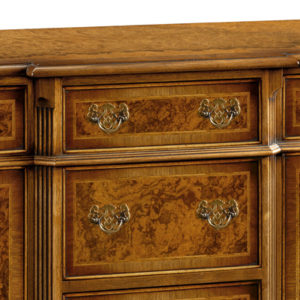 Breakfront Credenza Sideboard with Canted Sides Walnut W195-18278