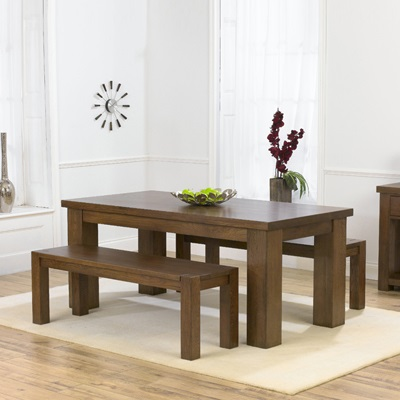 Astonishing Belgravia Dark Solid Oak 180Cm Dining Table With 2 Benches Gmtry Best Dining Table And Chair Ideas Images Gmtryco
