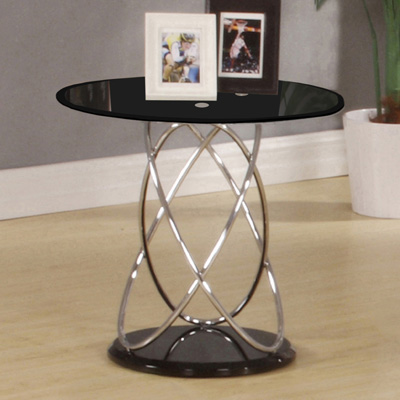 Echo high gloss white round lamp table robson furniture echo black glass round lamp table 20725 aloadofball Images
