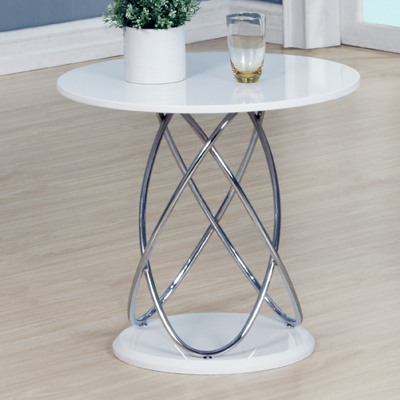 Echo high gloss white round lamp table robson furniture echo high gloss white round lamp table 20705 aloadofball Images