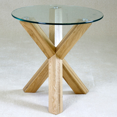 Satay solid oak and glass round lamp table robson furniture satay solid oak and glass round lamp table 20542 aloadofball Images