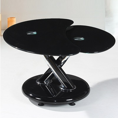 Torino Black And Black Glass Coffee Table 20560