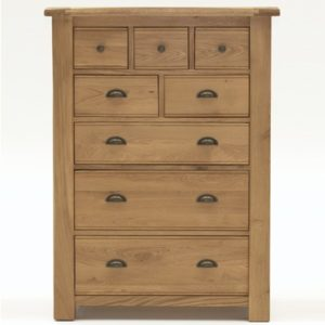 Brents Oak Tall Chest Of Drawers