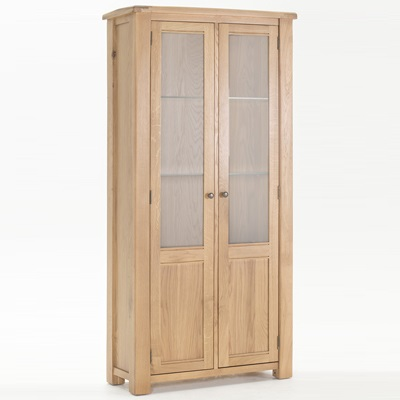 Brents Oak Display Cabinet-21383