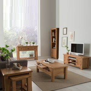 Brents Oak Display Cabinet-21382