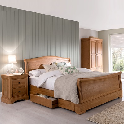 Simple Elegant Carina Oak 5 0 Kingsize Bed Picture - Review oak bedroom sets Luxury
