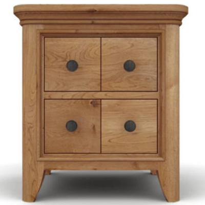 Carina oak lamp table with drawers robson furniture carina oak lamp table with drawers 21495 aloadofball Images