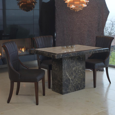 Ravena Marble Small 4 Seater Dining Set Robson Furniture