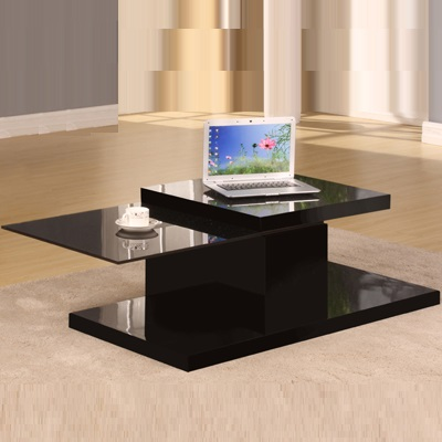 Riders White Gloss Motion Coffee Table-20784